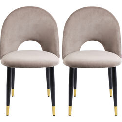 Dining Chair Iris Velvet Taupe (2/Set)