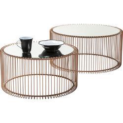 Tavolino da caffè Wire rame (2/set)