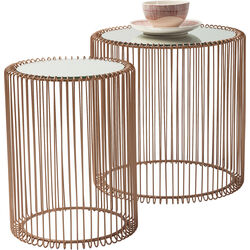 Side Table Wire Copper (2/Set) Ø44cm