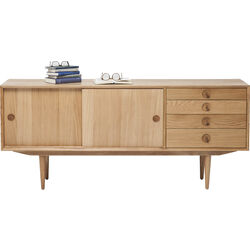 Sideboard Skandi Plain Oak 4Drw 2Doors