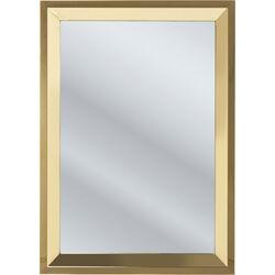Mirror Steel Rim Gold 105x75cm