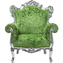 Arm Chair Posh Silber Green