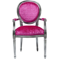 Chair with Armrest Posh Silver Pink