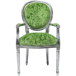 Chair with Armrest Posh Silver Green