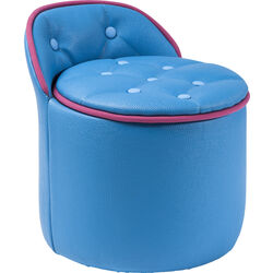 Stool Buttone Storage Light Blue