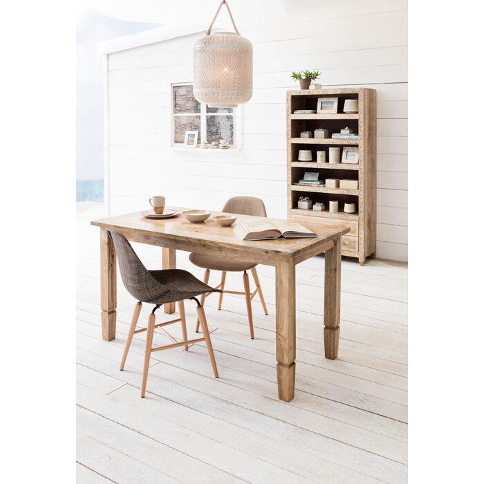 Chair forum wood brown kare design for Kare design tisch bijou steel