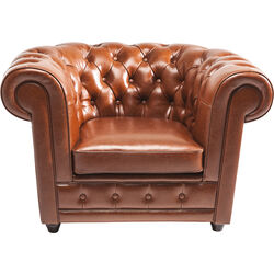Arm Chair Oxford bycast leather Cognac