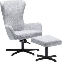 Swivel Chair + Stool Montana Grey