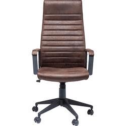 Sedia ufficio girevole Labora alto marrone