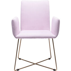 Chair with Armrest Portofino Rosé Gold