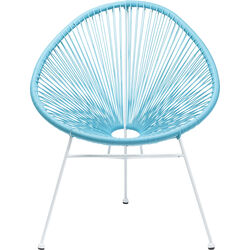 Arm Chair Spaghetti Light Blue