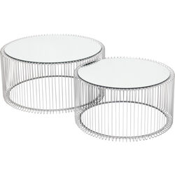 Coffee Table Wire Silver (2/Set)