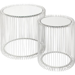 Side Table Wire Silver (2/Set) Ø44cm