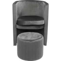 Arm Chair Lofty Grey (2/Set)