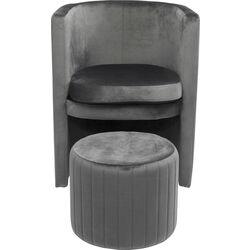 Arm Chair Lofty Grey (2/Set)