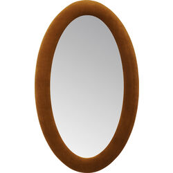 Mirror Velvet Brown Oval 150x90cm
