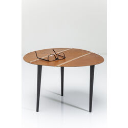 Side Table Egg Leather 46x50cm