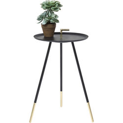 Side Table Elegance Trampolo Black Ø38cm