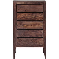 Brooklyn Walnut Height Dresser 5 Drawers