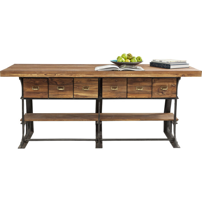 Table showcase counter table kare design for Showcase table design