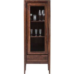 Brooklyn Walnut Display Cabinet 1 Door