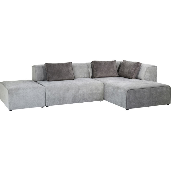 sofa infinity ottomane right grey kare design. Black Bedroom Furniture Sets. Home Design Ideas