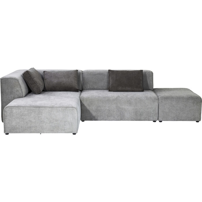 Sofa infinity ottomane left grey kare design for Sofa ottomane