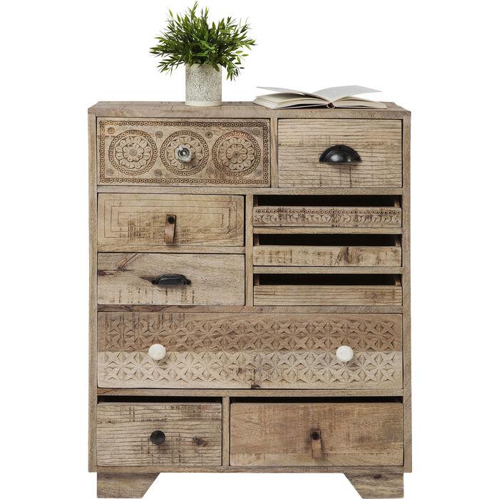 commode puro 10 tiroirs kare design. Black Bedroom Furniture Sets. Home Design Ideas