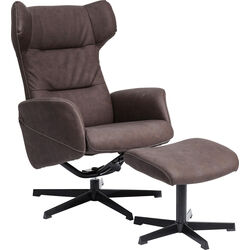 Swivel Chair + Stool Ohio Brown