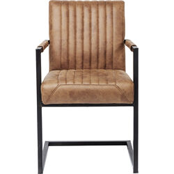 Cantilever Chair with Armrest Liberty Brown