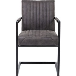 Cantilever Chair with Armrest Liberty Grey