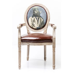 Chair with Armrest Louis Artistico Boar