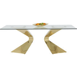 Table Gloria Gold 200x100cm