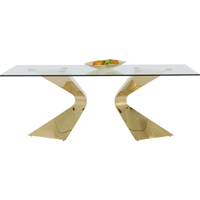 Kare Esstisch tisch gloria gold 200x100cm kare design