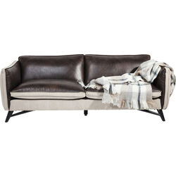 Sofa Fashionista Leather/Canvas 3-Seater