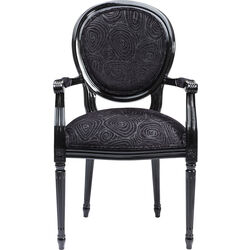 Chair with Armrest Posh Loop Black