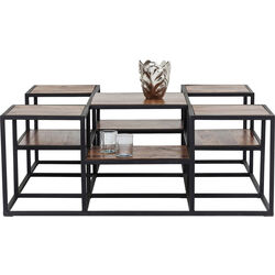Coffee Table Steps Wood  120x120cm