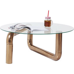 Table basse Pipeline cuivre Ø90cm