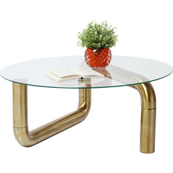 Coffee Table Pipeline Gold Ø90cm