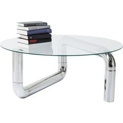 Coffee Table Pipeline Chrome Ø90cm