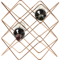 Wine Rack Wire Zick Zack copper