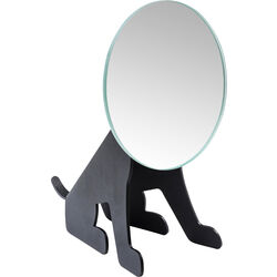 Table Mirror Dog Face Black