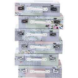 Dresser Suitcase Patchwork Powder