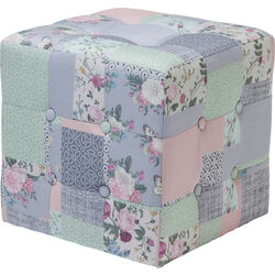 Stool Patchwork Powder 40x40cm