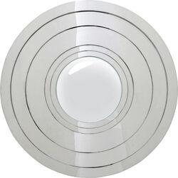 Mirror Steel Step Silver Round Ø80cm