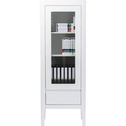 Brooklyn White Display Cabinet 1 Door