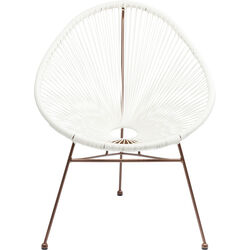 Arm Chair Spaghetti Rosegold  White