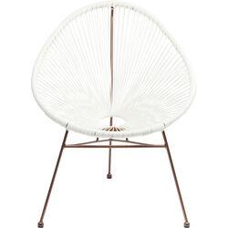 Chair Spaghetti Rosegold  White