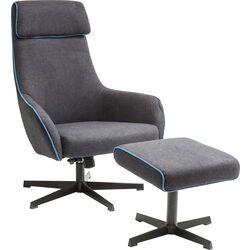 Swivel Chair + Stool Long Island