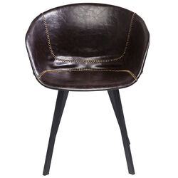 Chair with Armrest Lounge Brown
